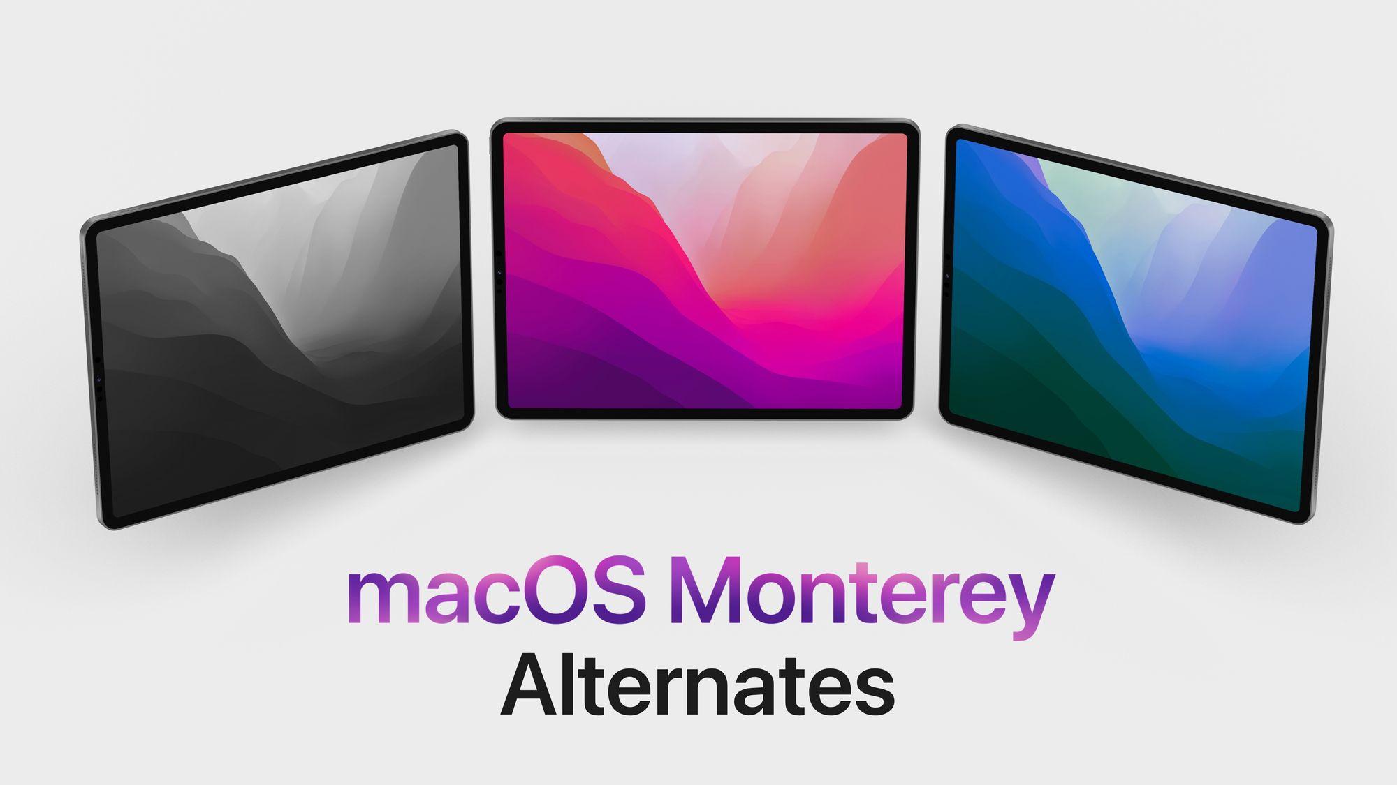 MacOS Moneterey Alternate Wallpapers