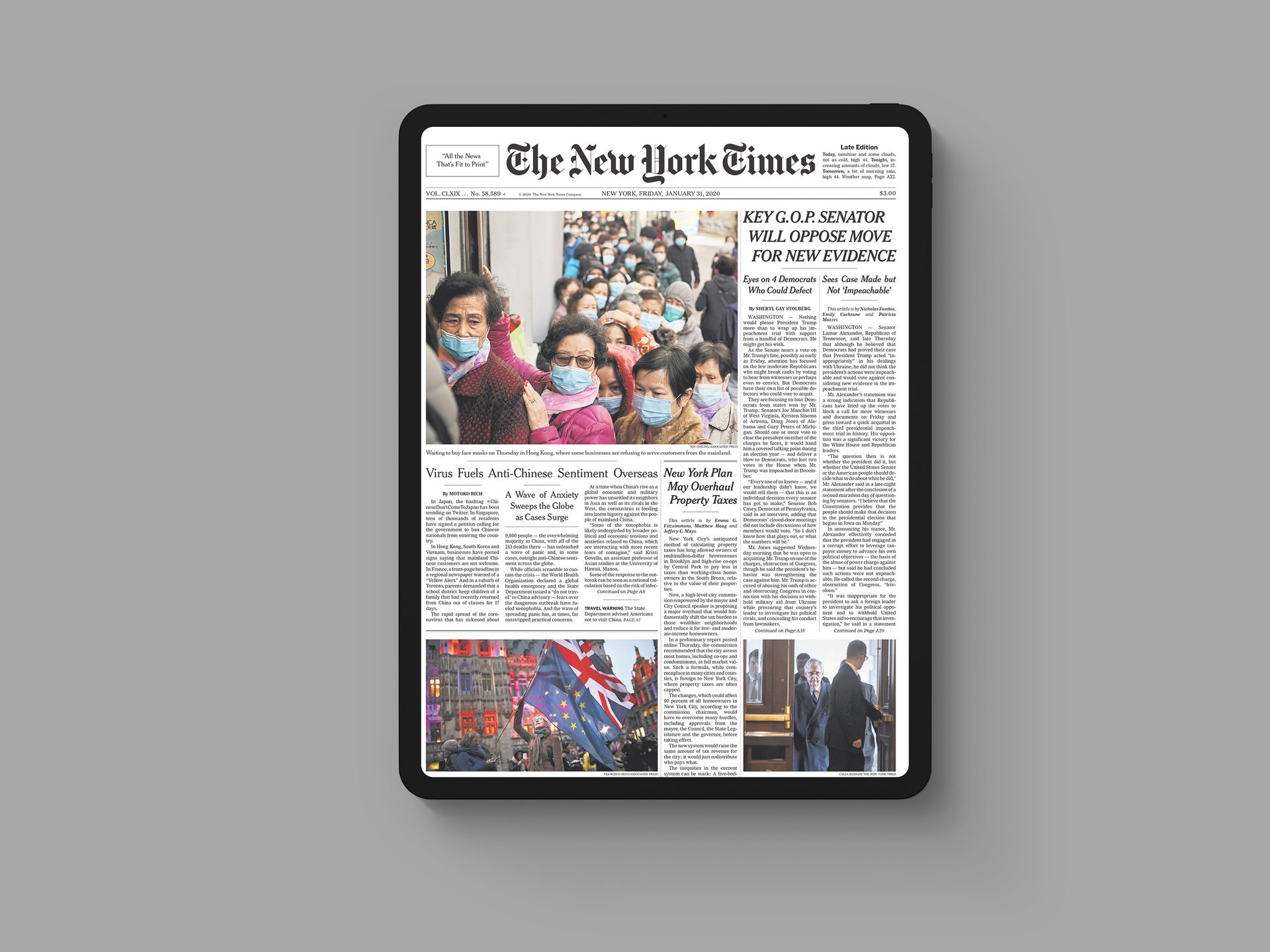 Save Today's New York Times Front Page with Shortcuts