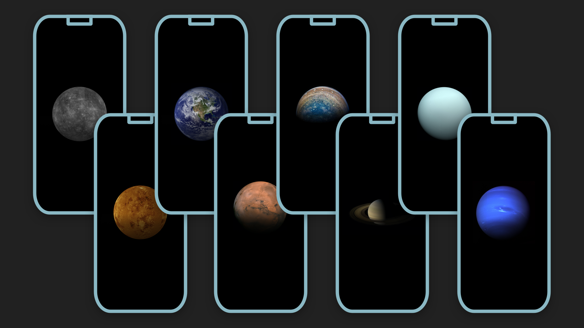 New High Res iPhone Wallpapers for Each Planet