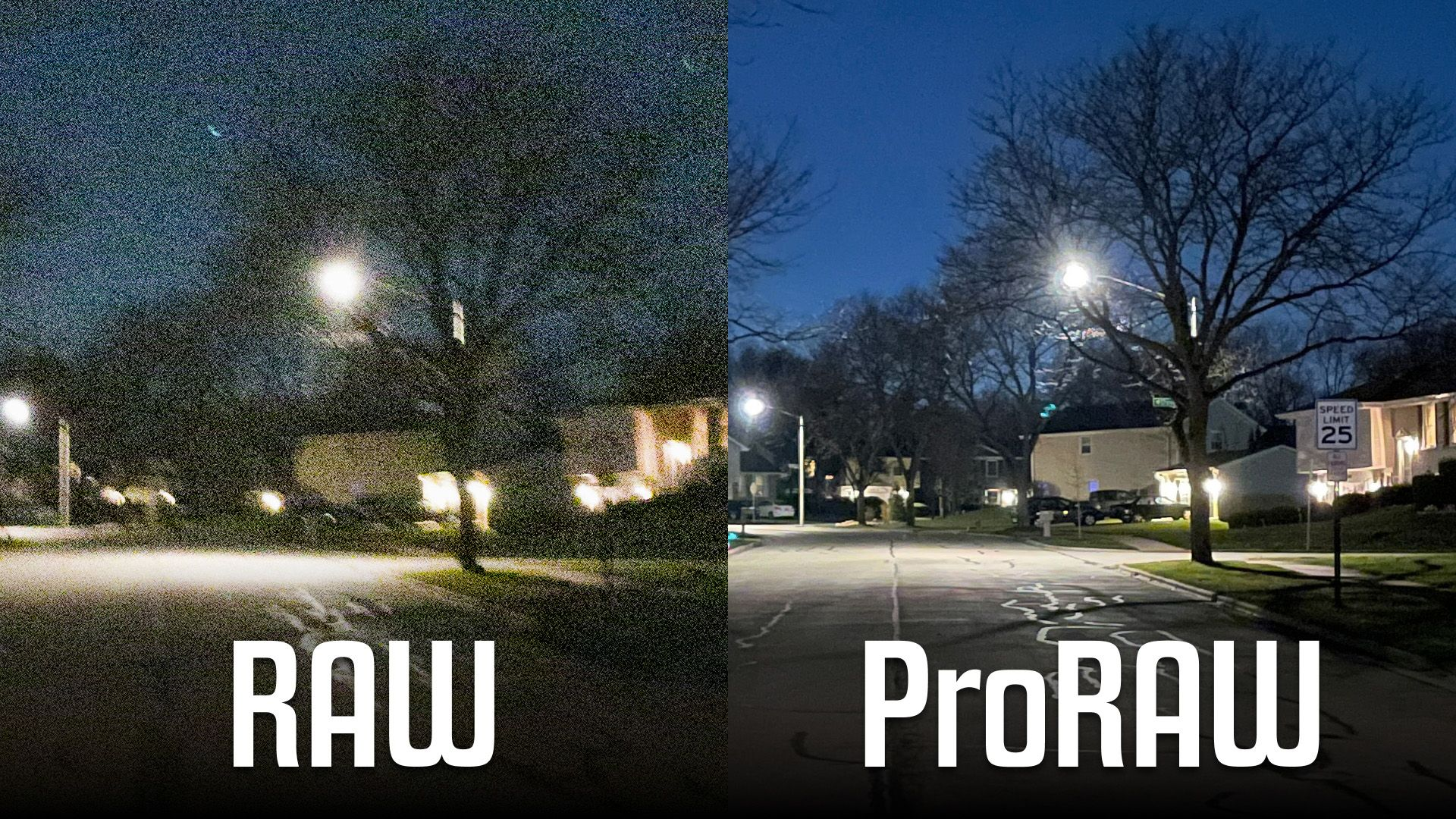First Look at ProRAW Night Mode Photography on the iPhone 12 Pro