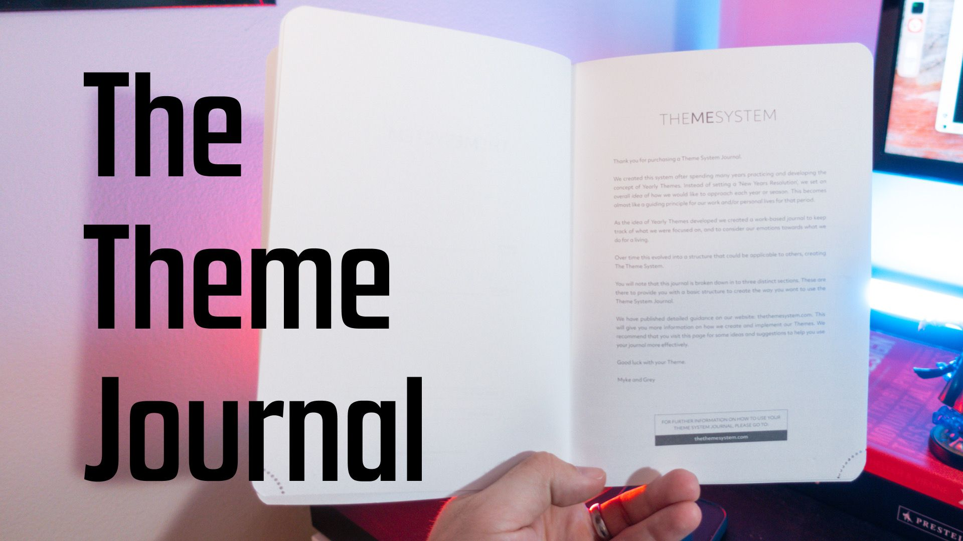 The Theme System, the Theme Journal and why 80% of people don't achieve their New Year's resolutions