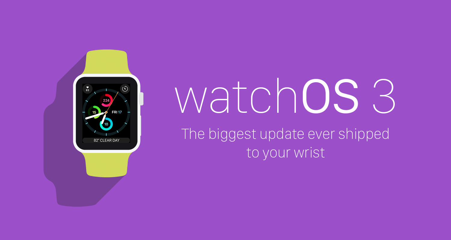 Watchos 3 major update now available - Watchos 3 The Birchtree Review