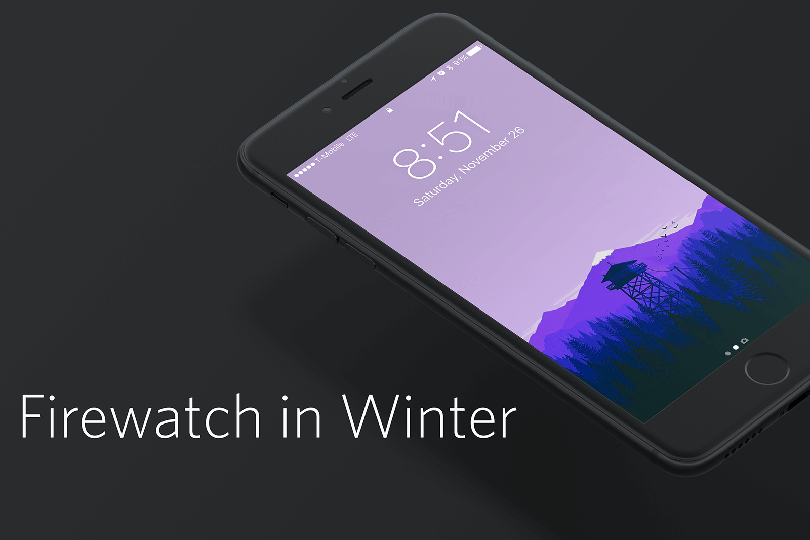 My old set of Firewatch wallpapers proved to be insanely popular, so I thought I'd bring it back with a slightly modified winter version.