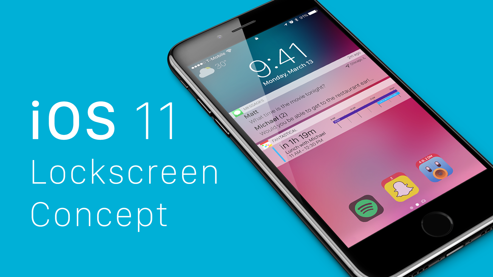 Concept ios 11 lock screen birchtree for New app ideas for iphone